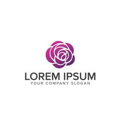 flower logo spa and esthetics logo design concept vector image