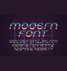Font 80s vector