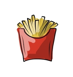 French fries sketch for your design vector image