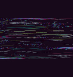 glitch damage texture distortion retro noise vector image