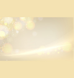 golden blurred bokeh for holiday glowing vector image