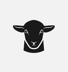 head sheep silhouette vector image