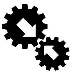 integration gears flat icon vector image