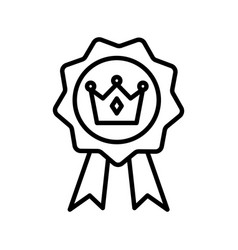 Isolated royal crown inside seal stamp line style vector