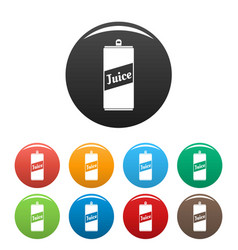 juice can icons set color vector image