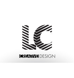 Lc l c lines letter design with creative elegant vector