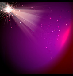 Light special effect star and beams magenta color vector