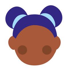 little black girl head character vector image