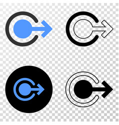 Logout eps icon with contour version vector