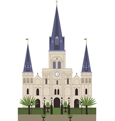 Louis Cathedral vector image