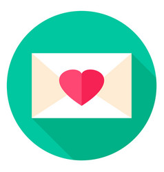 love envelope circle icon vector image