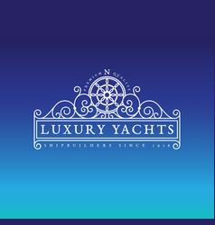 Luxury yachts label vector