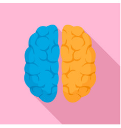 mind brain icon flat style vector image