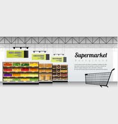 Modern supermarket background vector