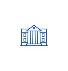 Museumparliament line icon concept museum vector