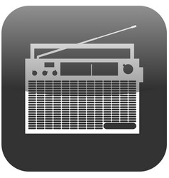old retro radio player flat icon symbol vector image