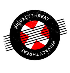 Privacy threat rubber stamp vector