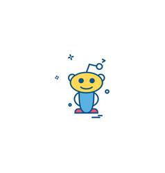 Reddit icon design vector