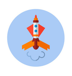 Rocket flat icon rocket icon c vector