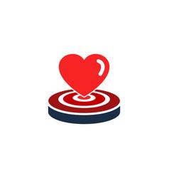 Romance target logo icon design vector