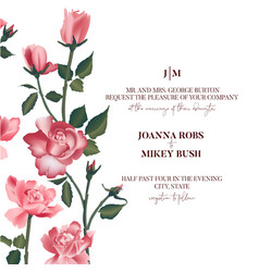 rose flower bouquet pink roses bridal design vector image
