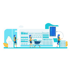 Self service store smart shelf vision technology vector