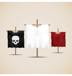 Set of ancient flags vector