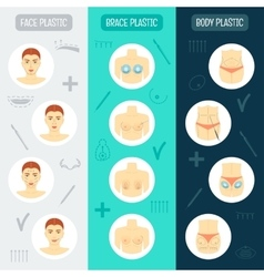 Set of vertical banners Plastic surgery concept vector