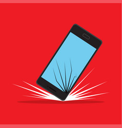 Shattered phone screen vector