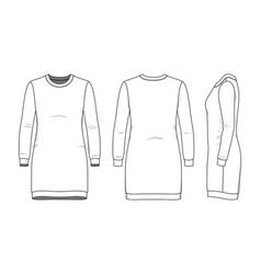 simple outline drawing sweetdress vector image