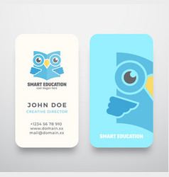 Smart education abstract sign or logo and vector