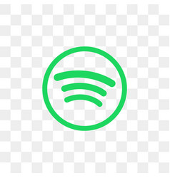 Spotify social media icon design template vector