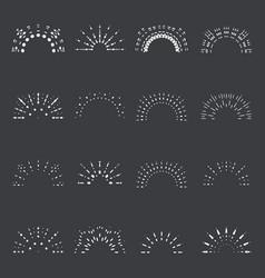 sunrise lineart sun radiant sunburst icons design vector image