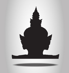 Thai giant silhouettes on the white background vector