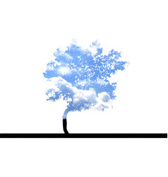 tree with sky vector image