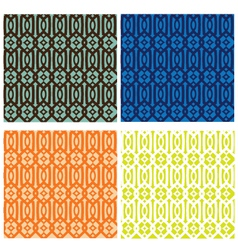 Trellis Pattern Collection vector image