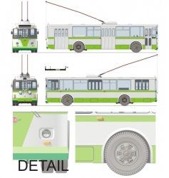 urban trolleybus isolated vector image