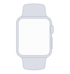 watch template for prototyping vector image
