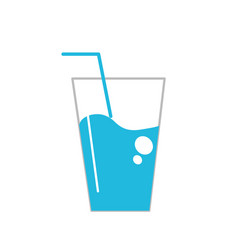 water glass to freshness and healthylife vector image