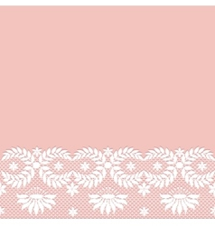 White lace border vector image