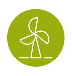 Wind turbine alternative sustainable energy block vector