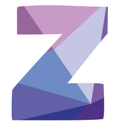z pastel letter isolated on white background vector image