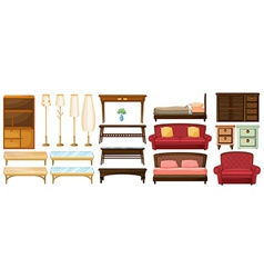 Different furnitures vector image