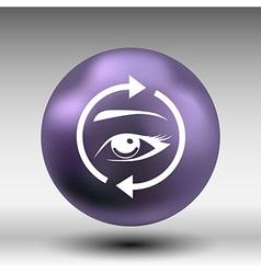 Eyelashes eyebrows eyelash eye icon makeup vector image