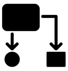 flow chart flat icon vector image vector image
