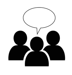 Group icon with speech bubble vector image