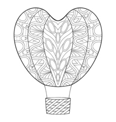 Hand drawn zentangle balloon in heart shape for St vector image