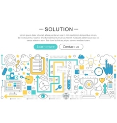 modern line flat design Solution concept vector image vector image