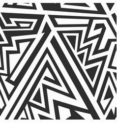 monochrome maze patern vector image