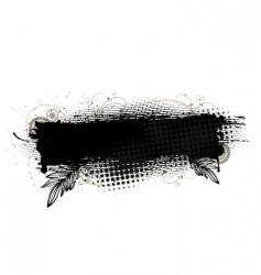 Splatter banner vector